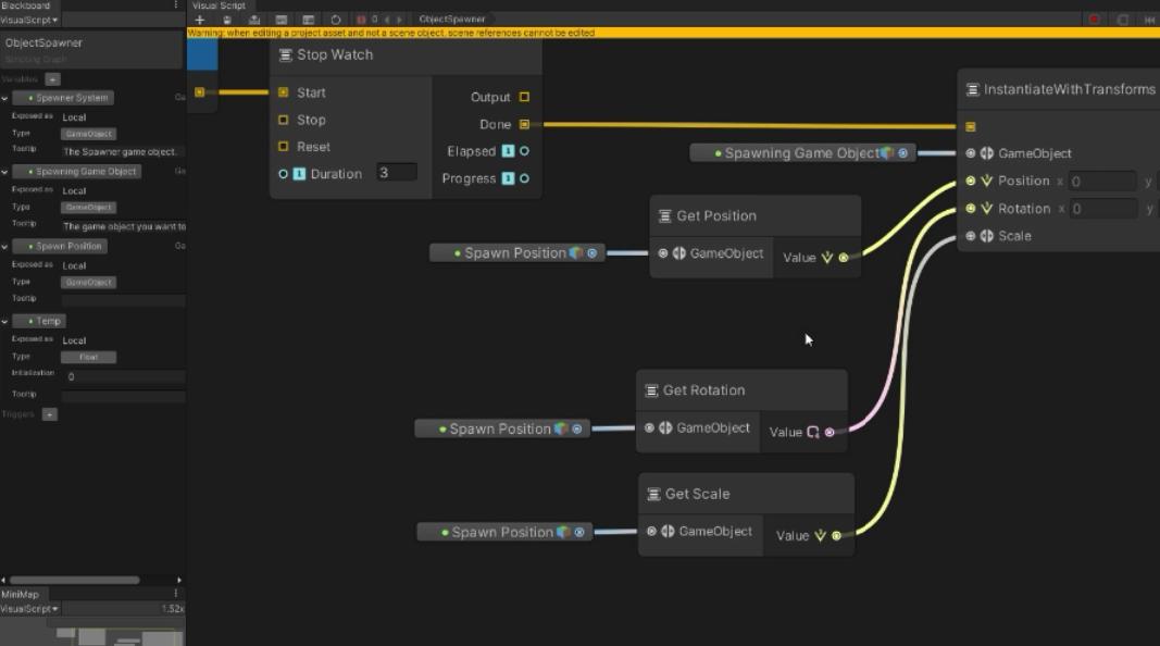 Unity visual programming